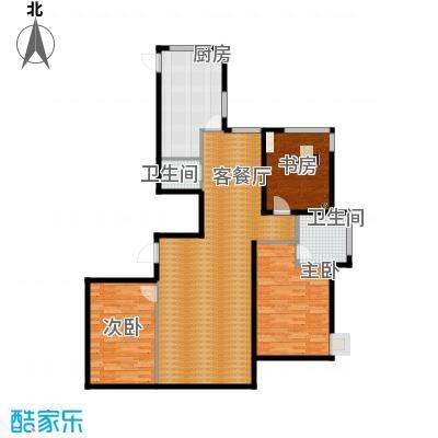 左岸慧晶峰境155.00㎡户型3室2厅2卫-副本