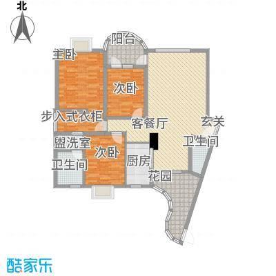 莲花三村社区户型3室2厅2卫1厨