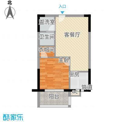 广博苑63.00㎡户型
