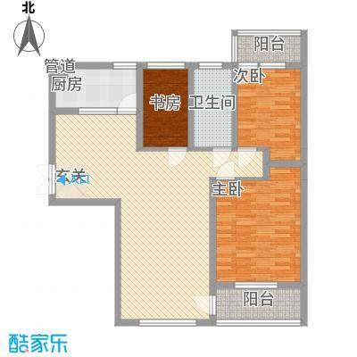 塘西新村户型3室2厅1卫1厨