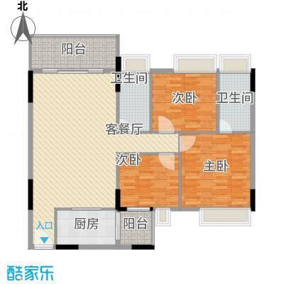 忠信春满园11.00㎡户型3室
