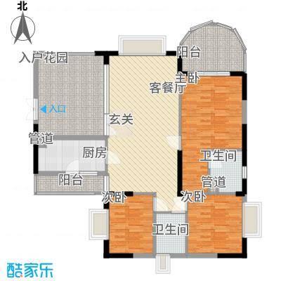 金域时代148.37㎡1单元0户型3室2厅2卫1厨