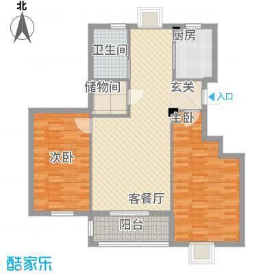 万景梅庭F[]户型2室2厅1卫1厨