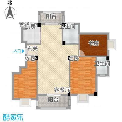 万景梅庭H[]户型3室2厅2卫1厨