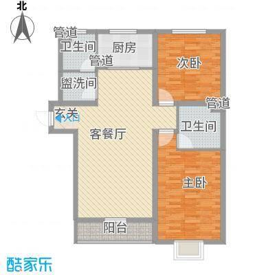 大公馆户型2室1厅1卫1厨