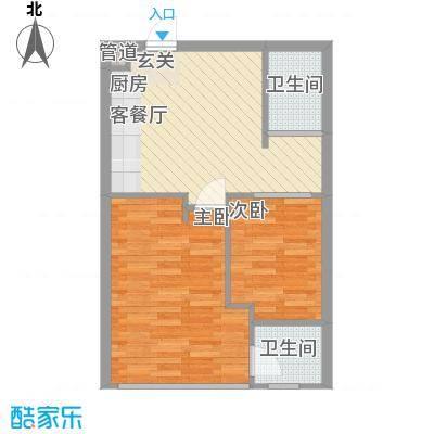 金领公寓63.00㎡E户型