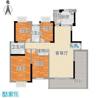祥和嘉苑祥和家园户型4室2厅2卫1厨
