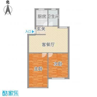 东方苑雅阁8.60㎡户型2室2厅1卫1厨