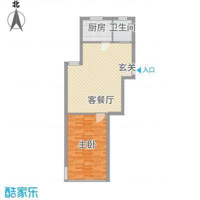 东方苑雅阁65.50㎡户型1室1厅1卫1厨