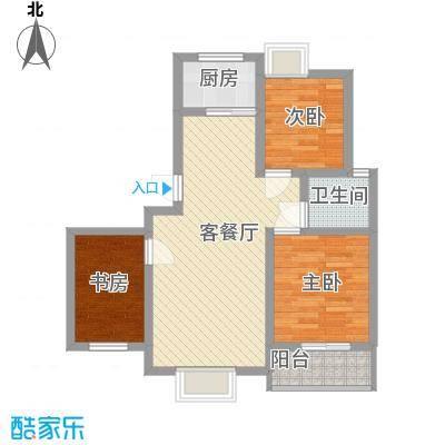丽景花园87.00㎡户型2室