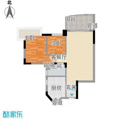 丽景花园88.00㎡户型2室