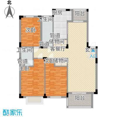 云水山庄15户型3室2厅2卫1厨