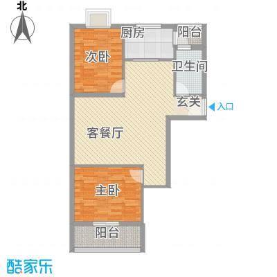 新佳苑户型2室2厅1卫1厨