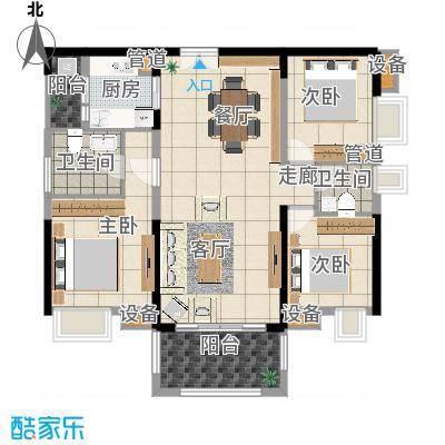 中信凯旋城别墅112.00㎡高层B1栋C-2户型-副本