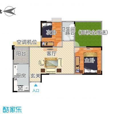攀华国际广场Z3、Z7(2.3.6.7号房)户型两室两厅(改)-副本