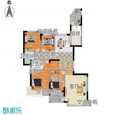 鹰潭恒大绿洲176.58㎡11号楼2单元标准层4室户型-副本