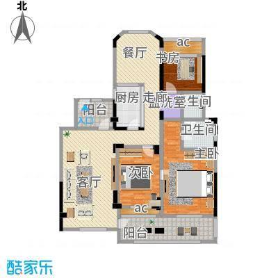 城置金色年华144.00㎡C户型四室两厅两卫 144㎡户型4室4厅4卫-副本
