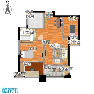 绿地海域苏河源81.00㎡B2户型2室2厅-副本