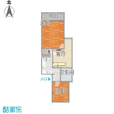 乾溪二村-设计6-卫生间门在客厅里