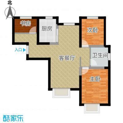 旭辉澜郡98.88㎡环景瞰湖公馆Q标准层户型3室2厅1卫-副本