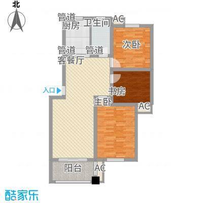 扬子家园114.00㎡尊贵雅居户型3室2厅1卫1厨