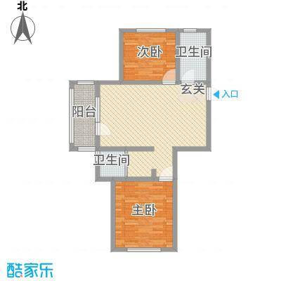 和谐牡丹园88.00㎡户型3室2厅1卫1厨