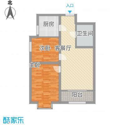 百合世纪城88.10㎡A2户型2室2厅1卫1厨