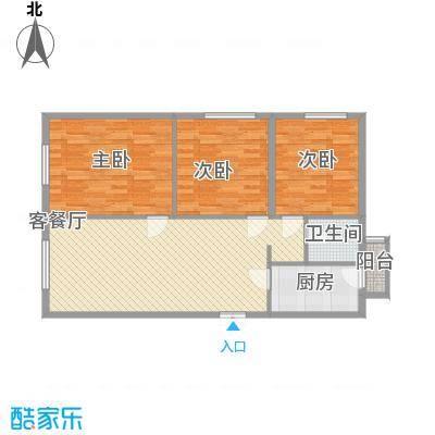 百合世纪城113.00㎡B3户型3室2厅1卫1厨