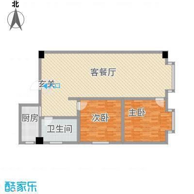 海棠铭居二期E-4户型