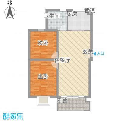 公元209981.52㎡7#楼8#楼12#楼户型2室2厅1卫1厨