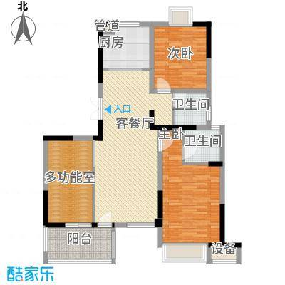 长江国际花园11.00㎡C2户型3室2厅2卫1厨