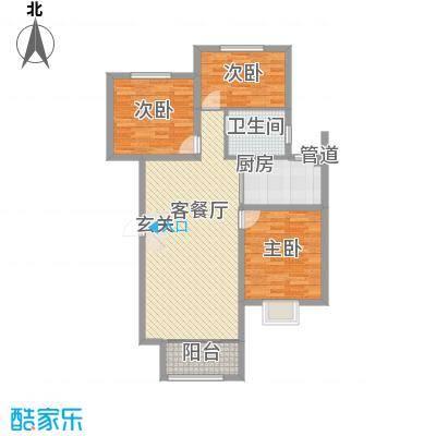 公元2099117.30㎡19#楼21#楼户型3室2厅1卫1厨