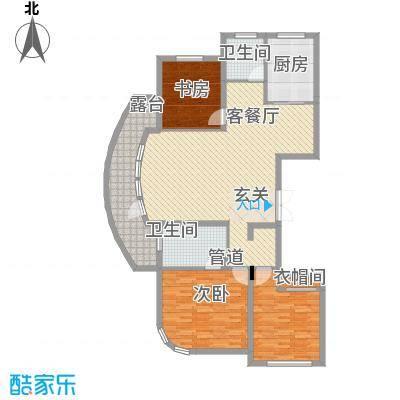 君豪・绿园144.27㎡C-4户型3室2厅2卫1厨