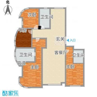 君豪・绿园21.71㎡D-1户型4室2厅3卫1厨