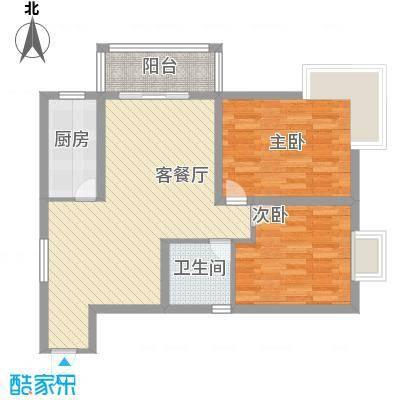 轻港佳苑7.73㎡G户型2室2厅1卫1厨