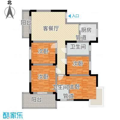 万鸿城市花园四居户型4室