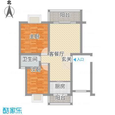欧亚西城国际81.53㎡B1户型2室2厅1卫