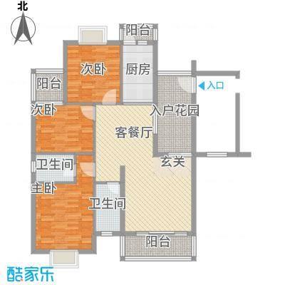 欧亚西城国际114.35㎡C1户型3室2厅2卫1厨