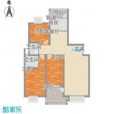 名城・运河佳园141.00㎡D2户型3室2厅2卫
