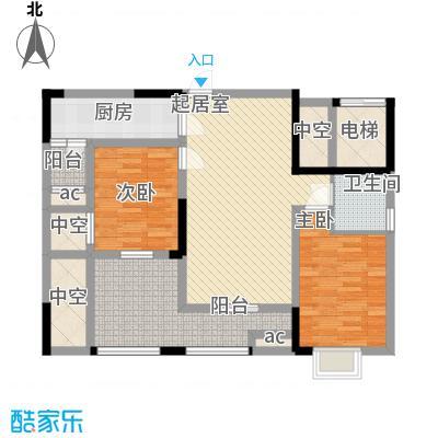 森柯香渝园11.40㎡第1栋1、8号户型3室2厅2卫1厨