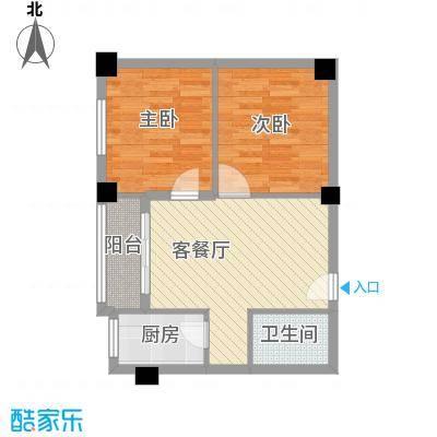 锦旺苑600x600户型2室1厅1卫1厨