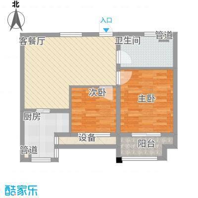 莱茵苑78.80㎡小高层B户型2室2厅1卫1厨