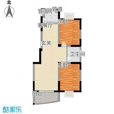 扬子佳竹苑A4户型2室2厅