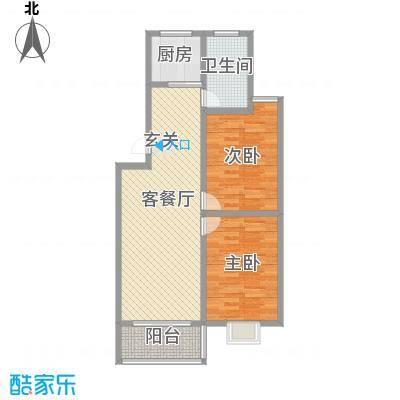 成业家园86.00㎡户型2室2厅1卫1厨