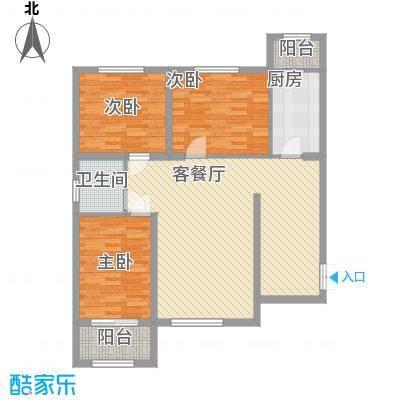 百合世纪城118.60㎡A1户型3室2厅1卫1厨