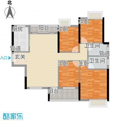 九江中航城1号楼和2号楼D户型