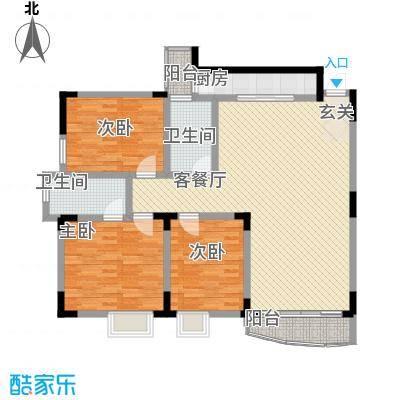梧桐大厦11.82㎡A户型3室2厅2卫1厨