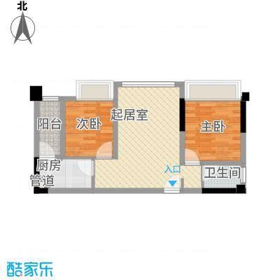 润扬广场2居户型2室