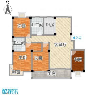 淮左郡庄园181.80㎡小高层户型4室2厅2卫