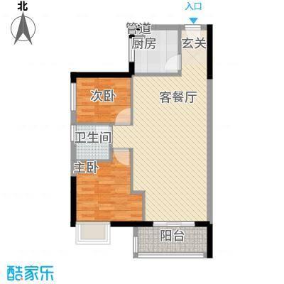 顺景蔷薇山庄四期73.18㎡第51栋3-27层0户型2室1厅1卫1厨